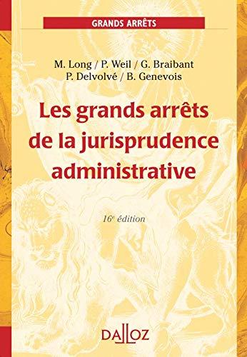 9782247074242: Les Grands Arrêts De La Jurisprudence Administrative