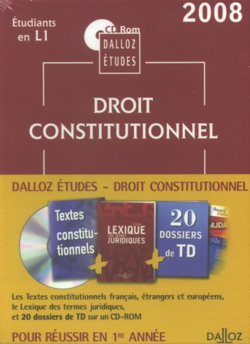 9782247075706: Droit constitutionnel : CD ROM