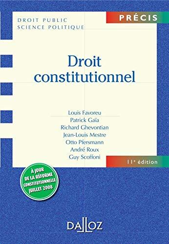 9782247080359: Droit constitutionnel (Précis droit public)