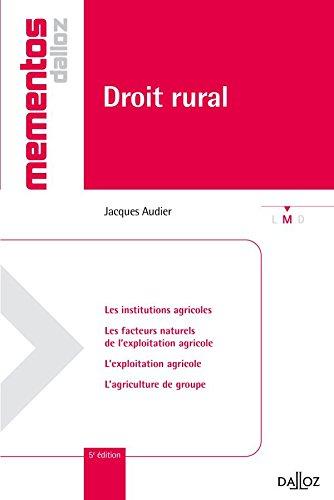 9782247083633: droit rural (5e édition)