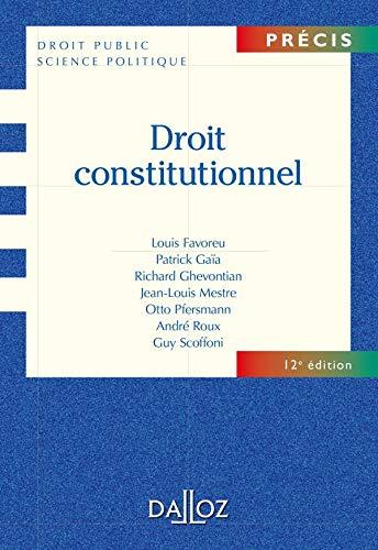 9782247084487: Droit constitutionnel