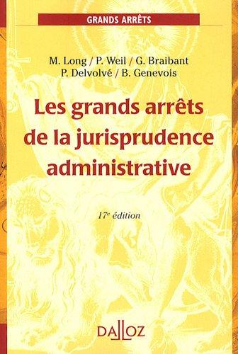 9782247084753: Les grands arr�ts de la jurisprudence administrative