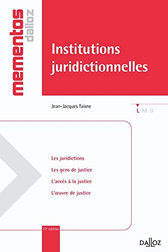 9782247088065: Institutions juridictionnelles (French Edition)