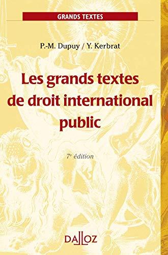 9782247088089: Les grands textes de droit international public