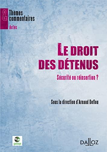 9782247088393: Le droit des détenus (French Edition)