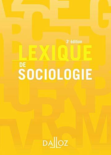 9782247088898: Lexique de sociologie (French Edition)