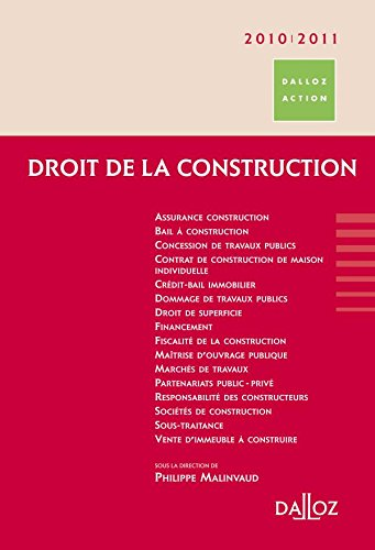 9782247089130: Droit de la construction 2010/2011 - 5e éd.: Dalloz Action