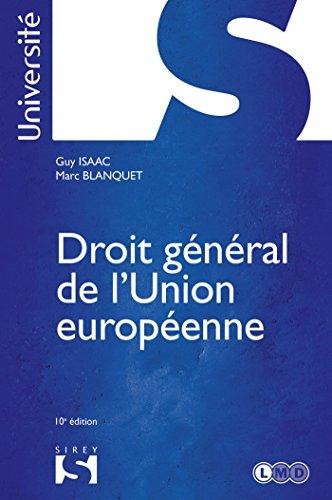 9782247089932: droit général de l'Union européenne (10e édition)