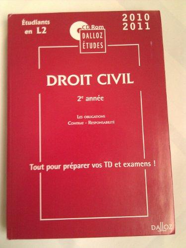9782247090778: DROIT CIVIL 2e année, Les obligations - contrat - responsabilité, CD ROM (PC) DALLOZ ETUDES, 2010/2011, Etudiants en L2