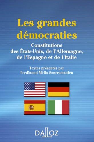 Les grandes démocraties: DALLOZ