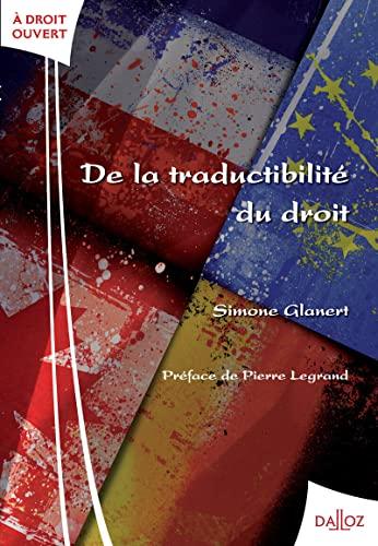 9782247106868: De la traductibilité du droit (French Edition)