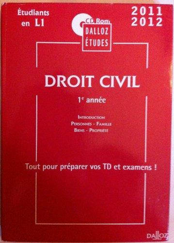 9782247107605: CD Etude Droit Civil Première Annee Non Comm.