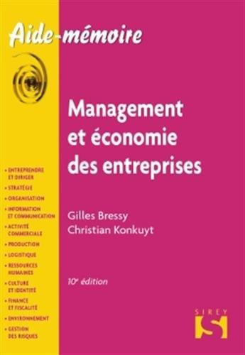9782247107902: management et économie des entreprises (10e édition)