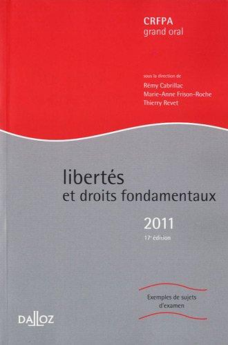 9782247108671: Libert�s et droits fondamentaux 2011