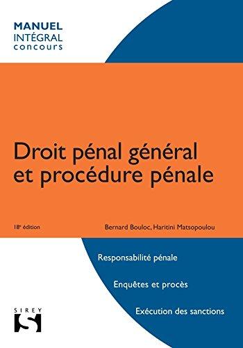 9782247110056: droit pénal et procédure pénale (18e édition)
