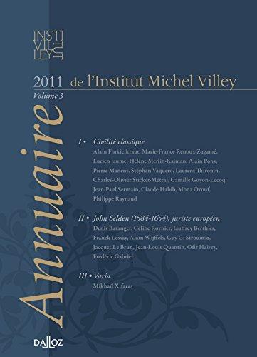 9782247115600: l'annuaire de l'institut Michel Villey t.3