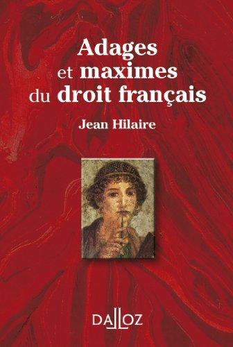 9782247119929: Adages et maximes du droit français - 1ère édition