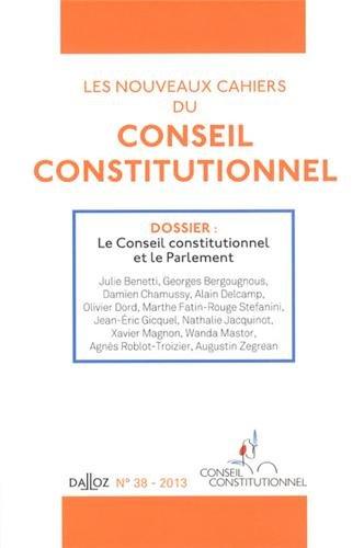 9782247124503: Les nouveaux cahiers du conseil constitutionnel nº38