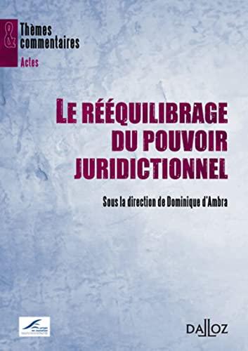 9782247124688: Le r��quilibrage du pouvoir juridictionnel: Th�mes et commentaires