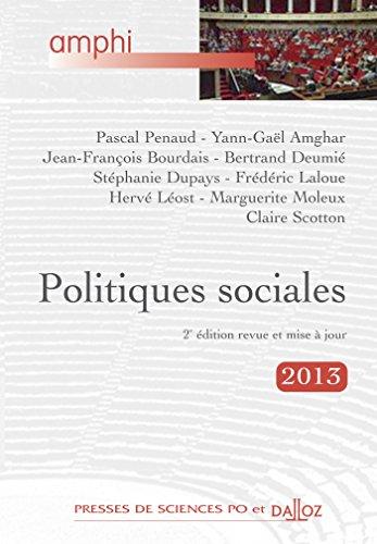 9782247125210: Politiques sociales - 3e éd.: Amphi - Presses de Sces Po et Dalloz