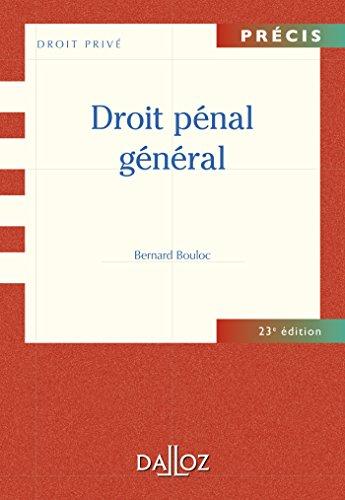 9782247125845: Droit p�nal g�n�ral - 23e �d.