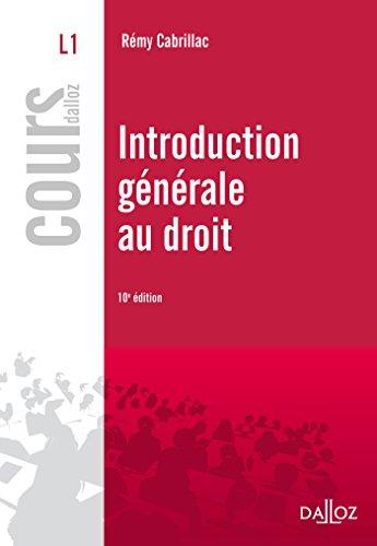 9782247126064: Introduction générale au droit - 10e ed.