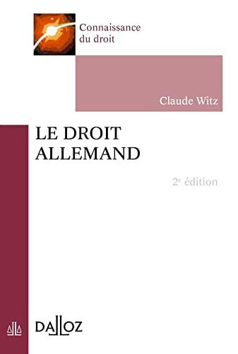 9782247126323: Le droit allemand - 2e éd. (Connaissance du droit)
