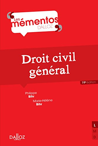 9782247129980: Droit civil g�n�ral - 19e �d.