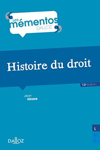 9782247129997: Histoire du droit. Introduction historique au droit et Histoire des institutions publiques - 13e éd.
