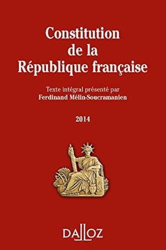 9782247130245: Constitution de la République française 2014