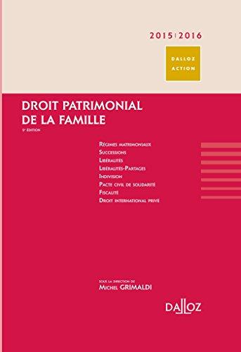 9782247132362: Droit Patrimonial De La Famille 2015 - 2016