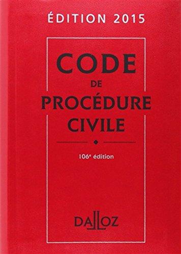 9782247138029: Code Dalloz Expert. Code de proc�dure civile 2015 - 11e �d.