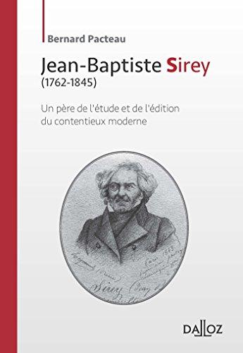 9782247139835: Jean-Baptiste Sirey - 1re édition