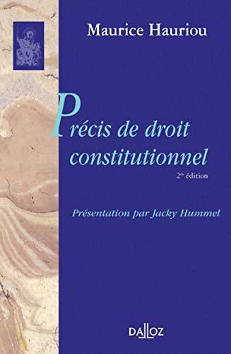 9782247149865: Pr�cis de droit constitutionnel (Biblioth�que Dalloz)