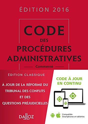 9782247151448: Code des procédures administratives 2016 - 2e éd.