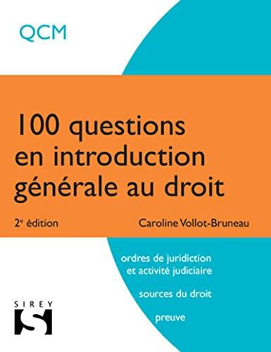 9782247151653: 100 questions en introduction g�n�rale au droit - 2e �d.