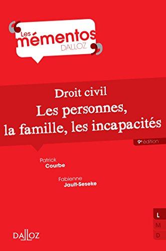 9782247152247: Droit civil. Les personnes, la famille, les incapacit�s - 9e �d.