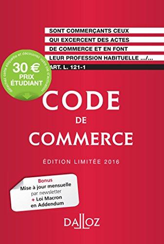 9782247153206: Code de Commerce 2016. Édition Limitee - 111e ed.