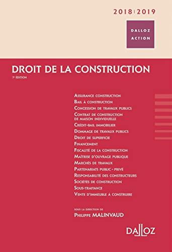 9782247160648: Droit de la construction 2018/2019 - 7e éd.