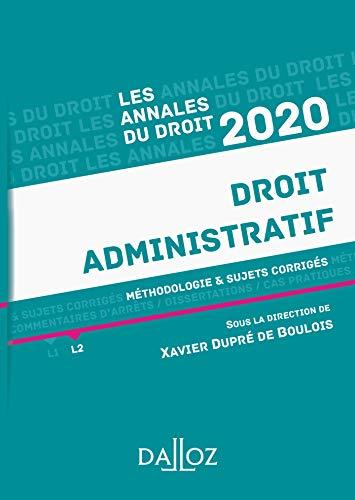 9782247188017: Annales Droit administratif 2020: Méthodologie & sujets corrigés