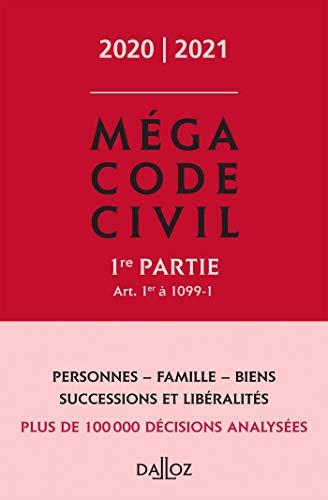 9782247188871: Méga Code civil 2020, 1re partie