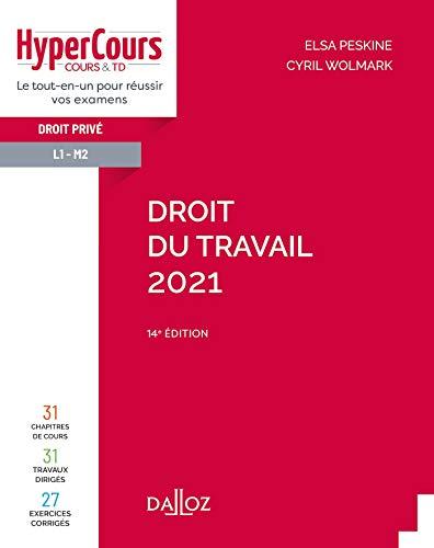 9782247197194: Droit du travail 2021 - 14e ed.