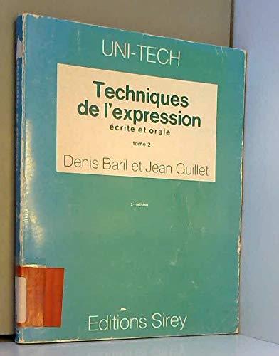 Techniques de l'expression ?crite et orale: n/a