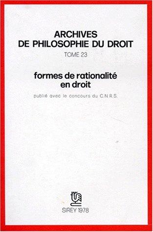 Formes de rationalite en droit: Villey, Michel