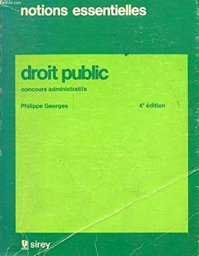 9782248020941: Droit public 4e edition -concours administratifs
