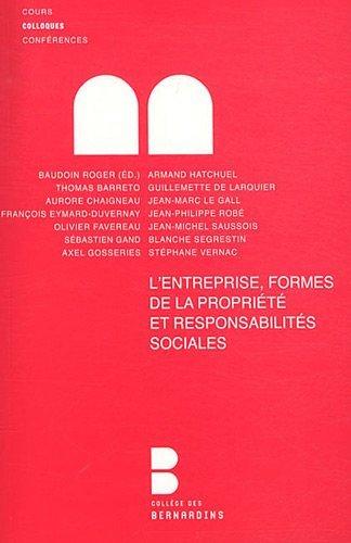 9782249622250: entreprise, formes de la propriete et responsabilite