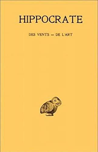 9782251003962: Tome V, 1re partie : Des vents - De l'art (Collection Des Universites de France) (French Edition)