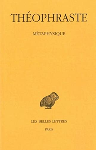 9782251004228: Theophraste, Metaphysique (French and Greek Edition)