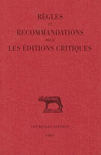 9782251010007: Règles et recommandations pour les éditions critiques (latin)