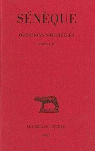 9782251012360: Questions naturelles (Collection Des Universites de France Serie Latine) (French Edition)